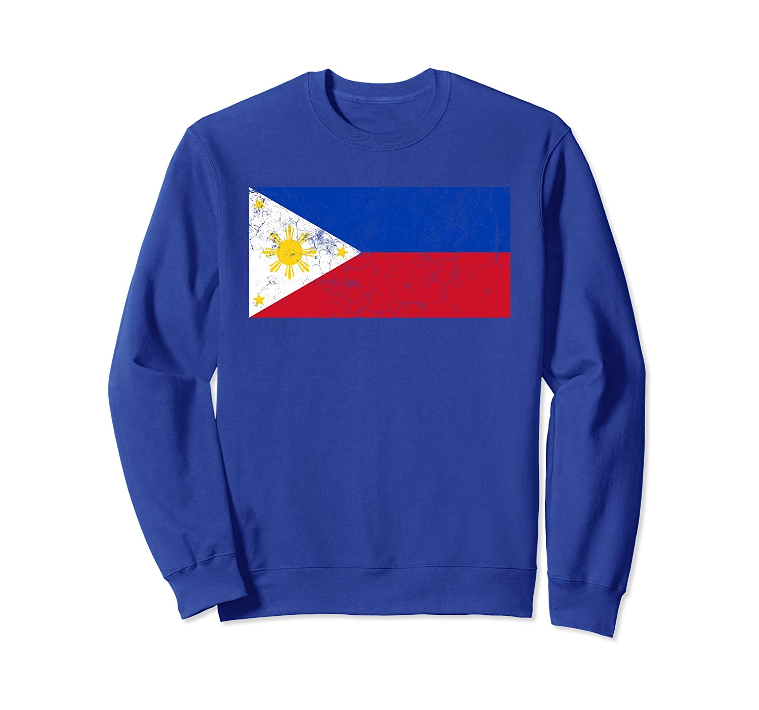 Philippines Flag Novelty Graphic Filipino Flag Sweatshirt-TH