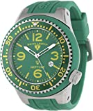 Swiss Legend Men's 21818S-C-O Neptune Green Dial Green Silicone Watch