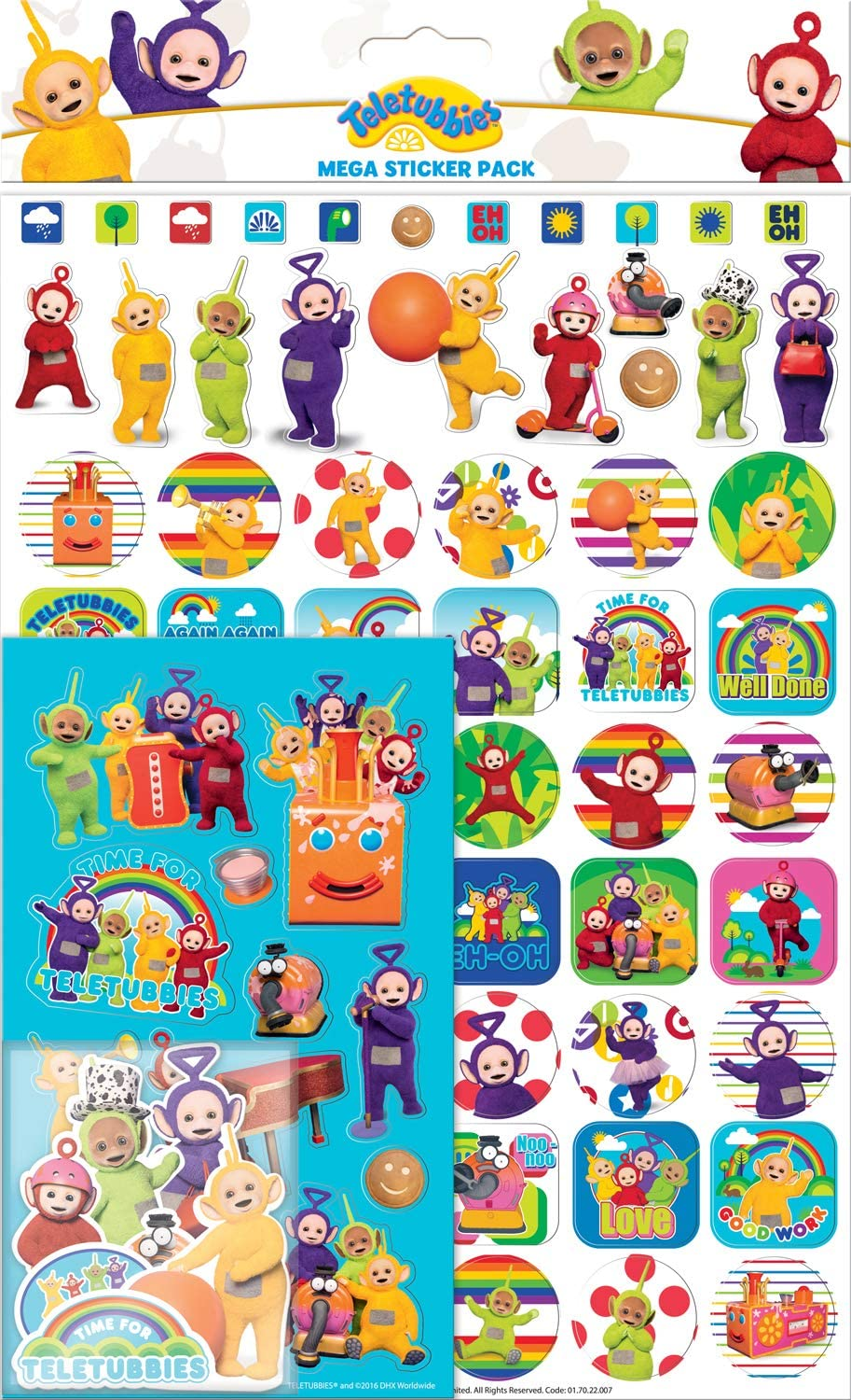 Paper Projects 01.70.22.007 - Pegatinas para Teletubbies (150 ...