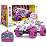 Pixie Cruiser Pink and Purple RC Remote Control Car Toy for Girls with Off-Road Grip Tires; Princess Style Big Buggy…