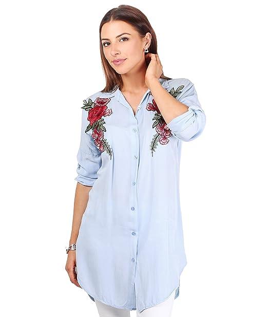 4686-LBLU-S (Blusa Bordado Flores)
