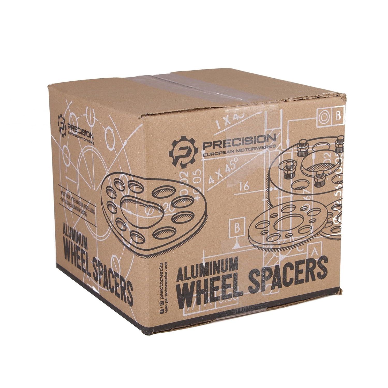 Hubcentric Wheel Spacers for BMW with Silver Lug Bolts 12x1.5, 50mm Shank 25mm for 128i 135i 318i 320i 325i 328i 335i M3 E60 525i 528i 530i 535i M5 Z3 Z4 E36 E46 E90 E92 E93 5x120 72.6 1