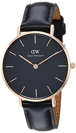 617b6bcbf3f2 Image Unavailable. Image not available for. Color  Daniel Wellington Women  Classic Petite Sheffield in Black 32mm