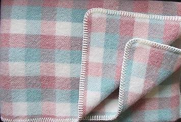 88707607eb18 Alpenwolle Couverture en Laine Plaid pour canapé 135 x 200 cm ...