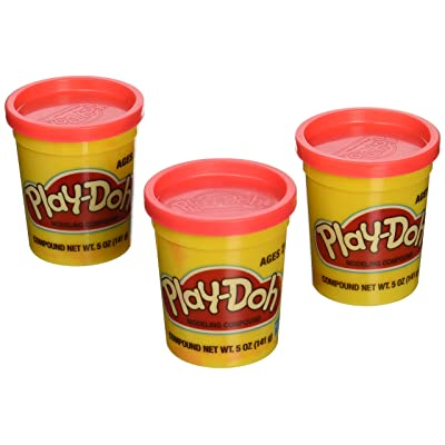 (3 Pack) BRIGHT RED (23870) Hasbro Play-Doh 5 oz. (15 oz. total)