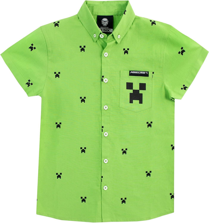 Minecraft Camisa para niño Creeper: Amazon.es: Ropa y accesorios
