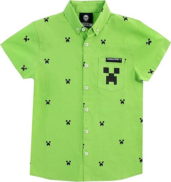 Minecraft Camisa para niño Creeper Verde 4-5 Años: Amazon.es: Ropa y accesorios