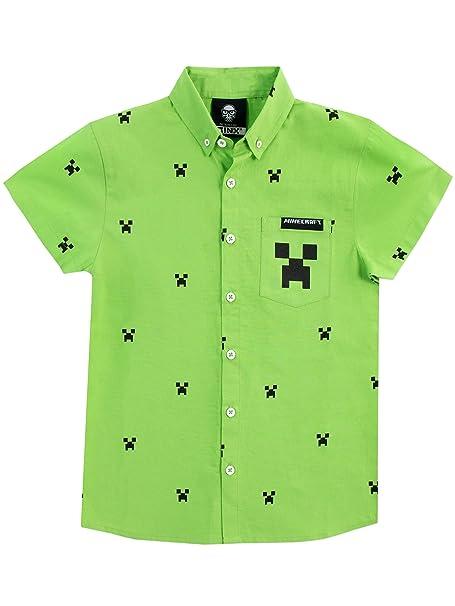 Minecraft Camisa para niño Creeper  Amazon.es  Ropa y accesorios a206bfbdce735