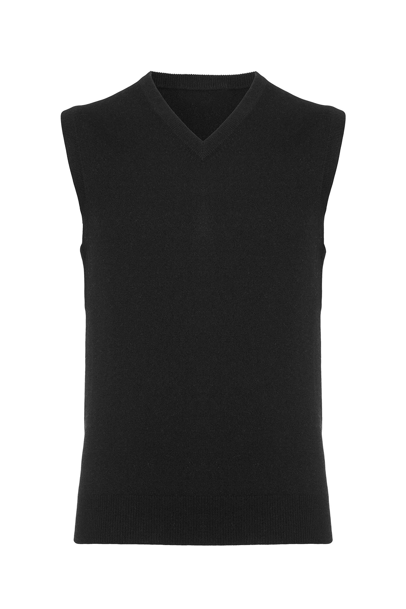 Lona Scott Men's Pure Cashmere Vest Black M by Lona Scott