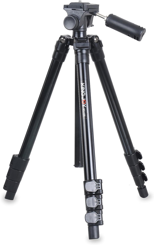 Kingjoy BT-158 - Trípode multifunción 5 en 1 para fotografía (trípode, macro, palo selfie y monopié en uno), perfecto para viajes y estudio