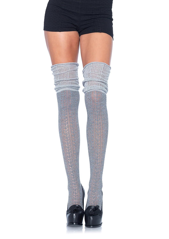 Leg Avenue calze Pointelle sopra il ginocchio Scrunch donna 6906