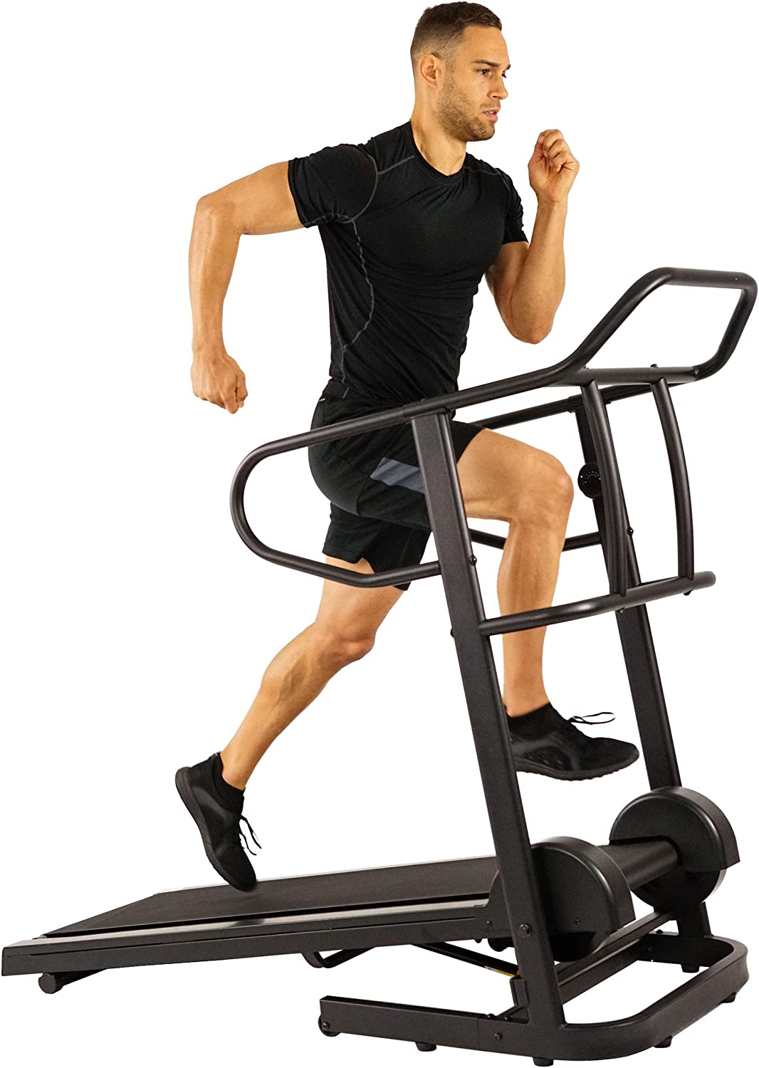 Sunny Health Fitness Manual Treadmill with 16 Levels of Magnetic Resistance, 300 LB Max Weight and Dual Flywheels