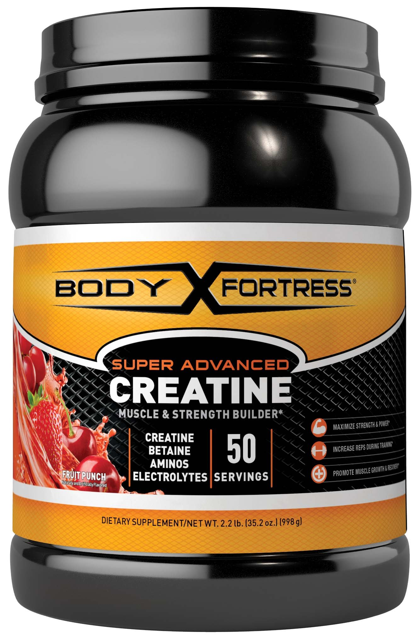 Body Fortress Super Advanced Creatine, Fruit Punch, 2.2 Pounds by Body Fortress