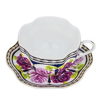 "Porcelana fina ""Versailles Garden"" taza de té y platillo, vintage royal taza"