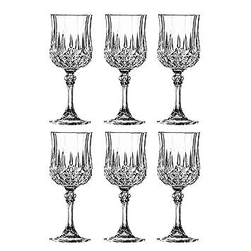 Cristal Darques Verres.Cristal D Arques 269301 Longchamp Verres A Vin Verre 170 Ml