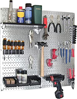 product image for Wall Control 30-WGL-200GVB Galvanized Steel Pegboard Tool Organizer, Galv/Black