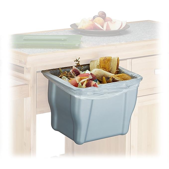 Relaxdays Abfallbehälter für die Küche, H x B x T: 17,5 x 24,7 x 15 ...