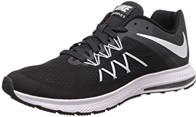 half off 9aa24 41032 Nike Men s Zoom Winflo 3 Black White-Anthracite Running Shoes-10 UK