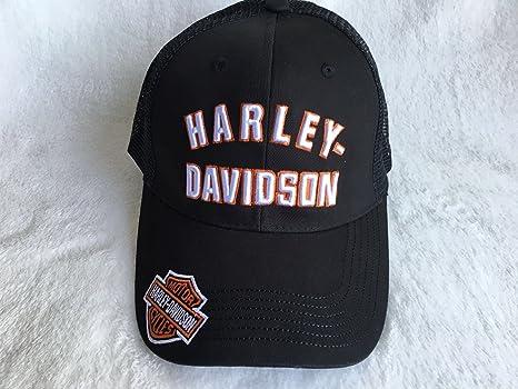 HARLEY DAVIDSON-GORRA, COLOR NEGRO Y NARANJA: Amazon.es: Deportes ...
