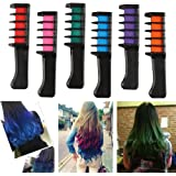 Coolyouth Hair Chalk Comb Set of 6 PCS, Temporary Hair Color Dye for Girls and Boys Dress Up, Party, Cosplay, Festivals, Salon Art DIY Hair Style Highlighting, Easy Dye and Wash Out