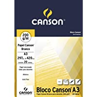 Bloco Canson Desenho Branco 200 g/m² com 20 folhas formato A3
