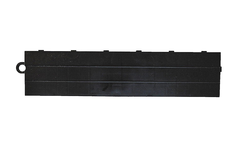 Speedway Garage Tile M789453B Garage Floor Male Ramp Edges without Loops, Black Speedway Garage Tile Mfg