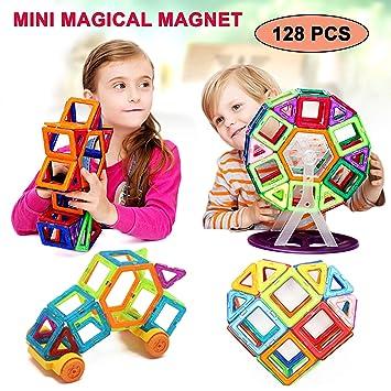 Magnetic Creative Construction Building Educational Blocks Game Kids Kit Toys