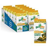 gimMe Snacks - Organic Roasted Seaweed - Toasted Sesame - (.35oz) - (Pack of 12) - non GMO, Gluten Free - Healthy on-the…