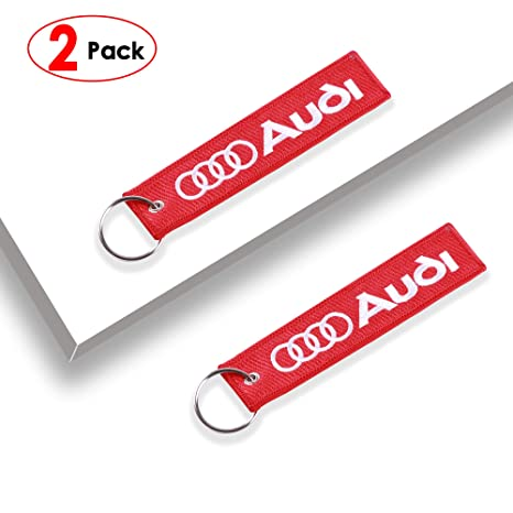 Amazon.com: IJUSTBY - Llavero con logo bordado para coche, 2 ...