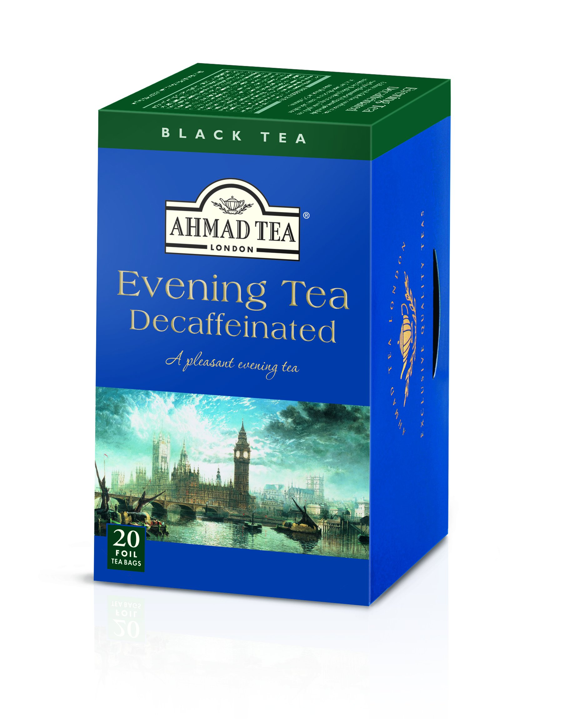 Ahmad Tea Decaffeinated Evening Tea, 20-Count Boxes (Pack of 6)