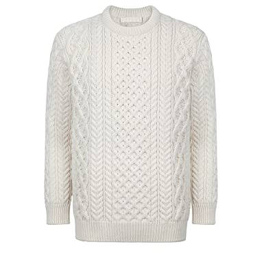 aa7701bace7f87 Donegal 100% Irish Merino Wool Blasket Ladies Aran Sweater by Ireland s Eye  Knitwear