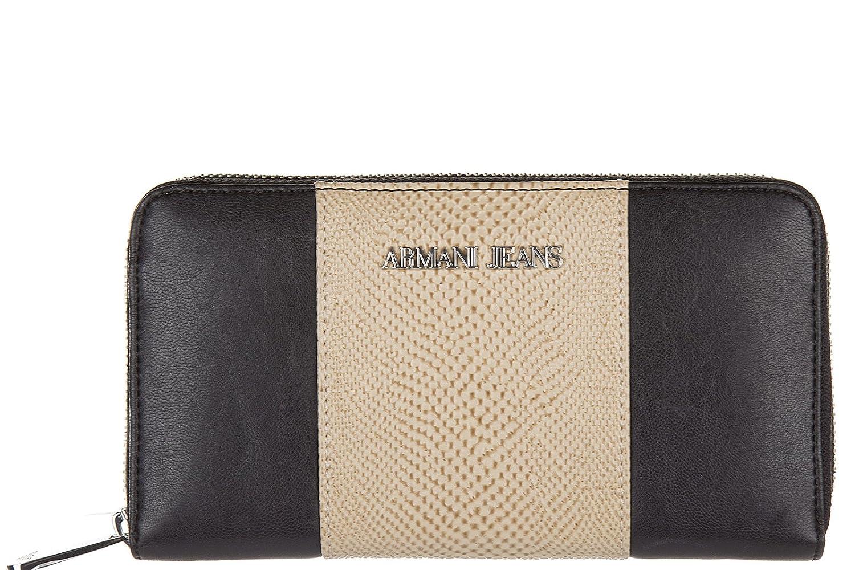 Armani Jeans monedero cartera bifold de mujer nuevo negro ...