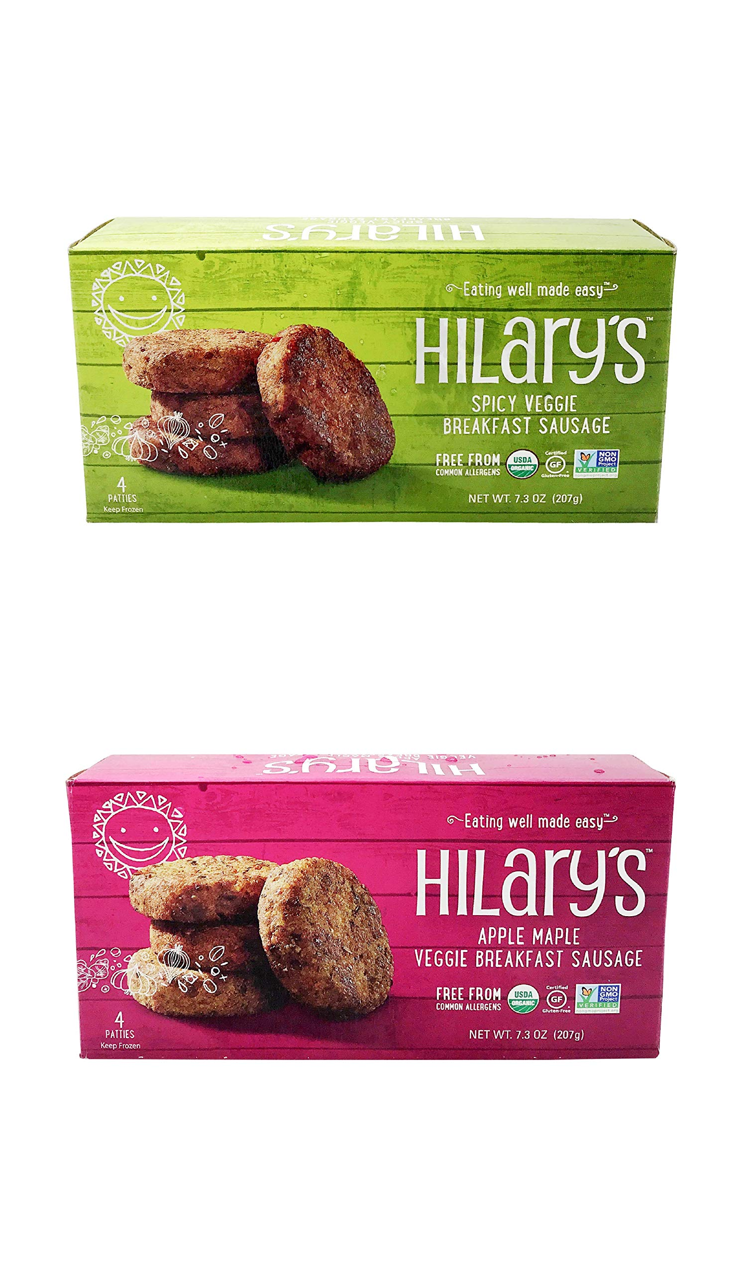 Hilary's Breakfast Sausage Variety Pack, 3 of each Flavor (6 Pack) by Hilary's (Image #1)