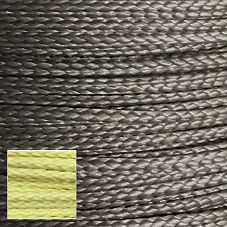 400lb 100 Dupont Kevlar Braided Line, 1.7mm Dia, Cut and Abrasion Resistant, Low Stretch, Heat Tolerant to 900 f Heavy Duty Speargun Band Constrictor line, Model Rocket Paracord, Survival Tactical