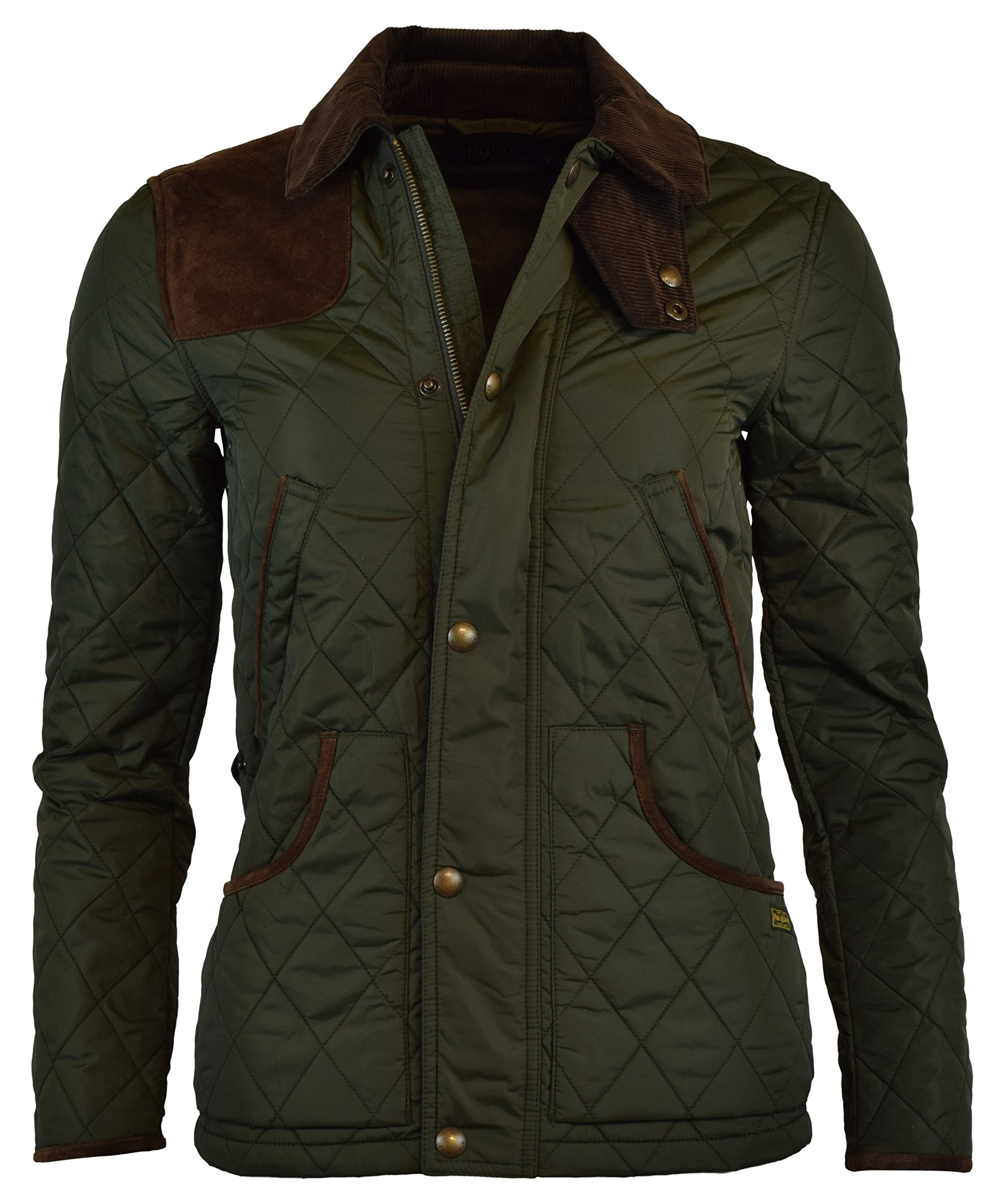 Polo Ralph Lauren Womens Nylon Suede Quilted Jacket - XS - Litchfield