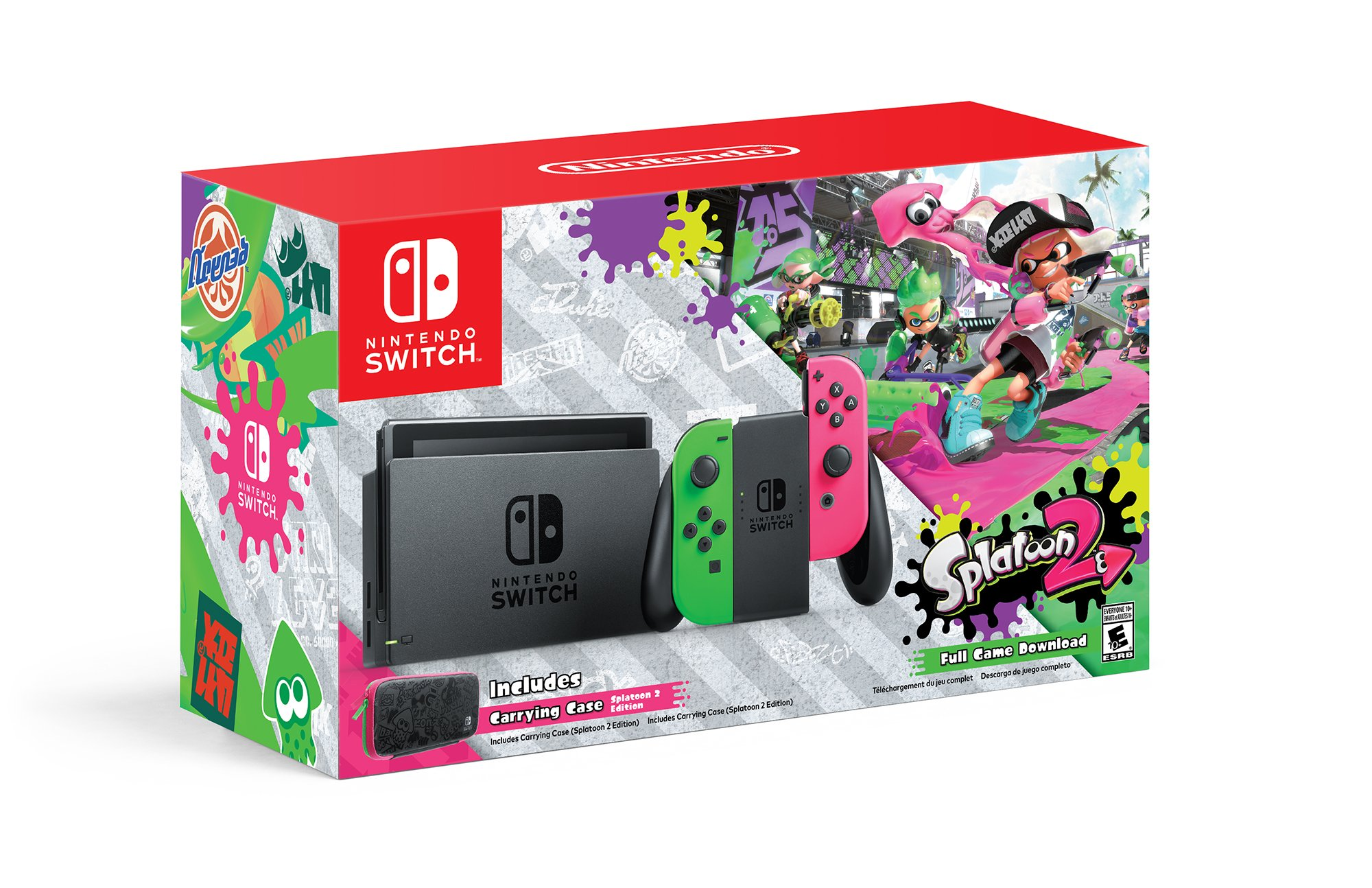Nintendo Switch Hardware with Splatoon 2 + Neon Green/Neon Pink Joy-Cons (Nintendo Switch) by Nintendo (Image #1)