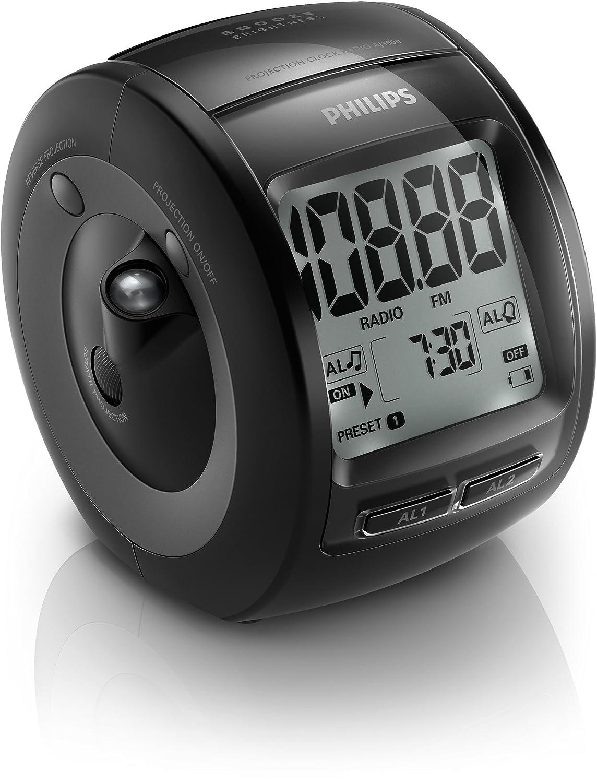 Philips AJ3800/12 - Radio (Reloj, Digital, FM, 87,5-108 MHz, LCD, Blanco): Amazon.es: Electrónica