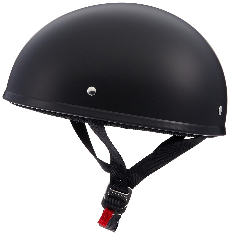 LS2 Helmets Stripper Unisex-Adult Half Helmet Motorcycle Helmet 531-1012 Matte Black, Small