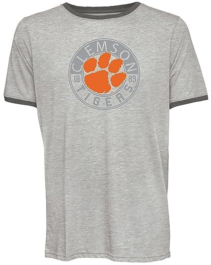 936fd9eb441 Camp David NCAA Clemson Tigers Men's Short Sleeved Heathered Jersey, Small,  ...