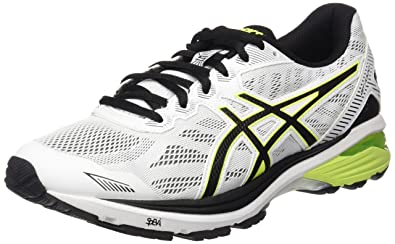 79dc49c569 ASICS Men's Gt-1000 5 Running Shoes, Avorio (White/Safety Yellow/