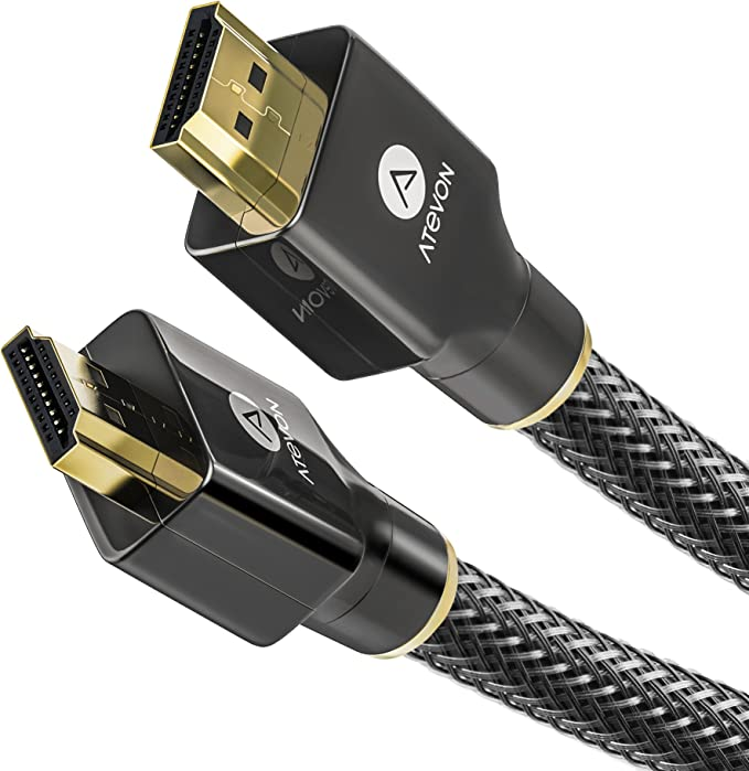 4K@60Hz, 18Gbps Supports Ethernet 4K HDR and ARC Basics Premium-Certified Braided HDMI Cable 3D - 10 Foot