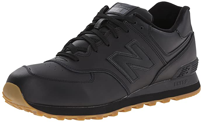 black leather new balance 574