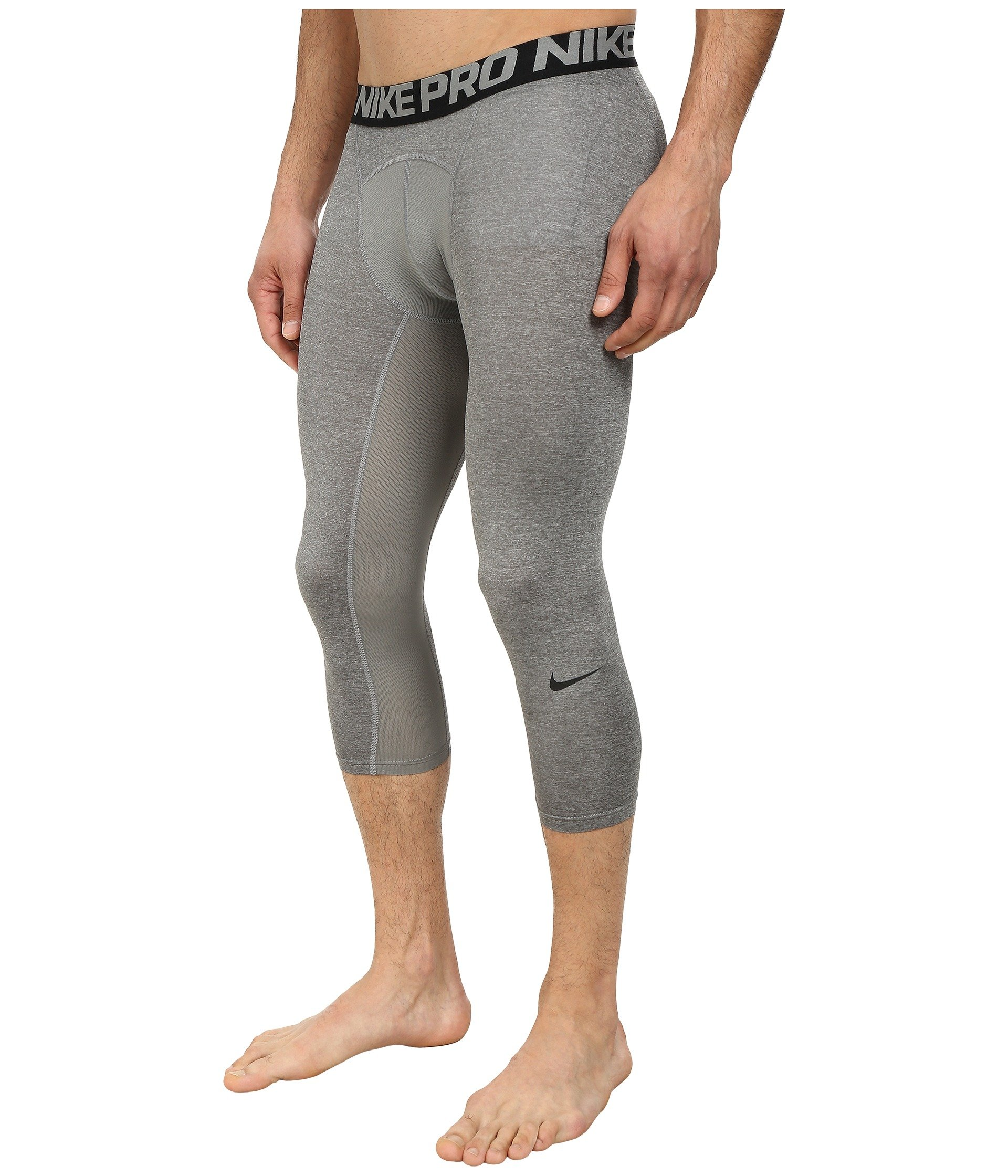 Nike Men's Pro 3/4 Tights (3XL, Carbon Heather/Black/Black) by Nike (Image #3)