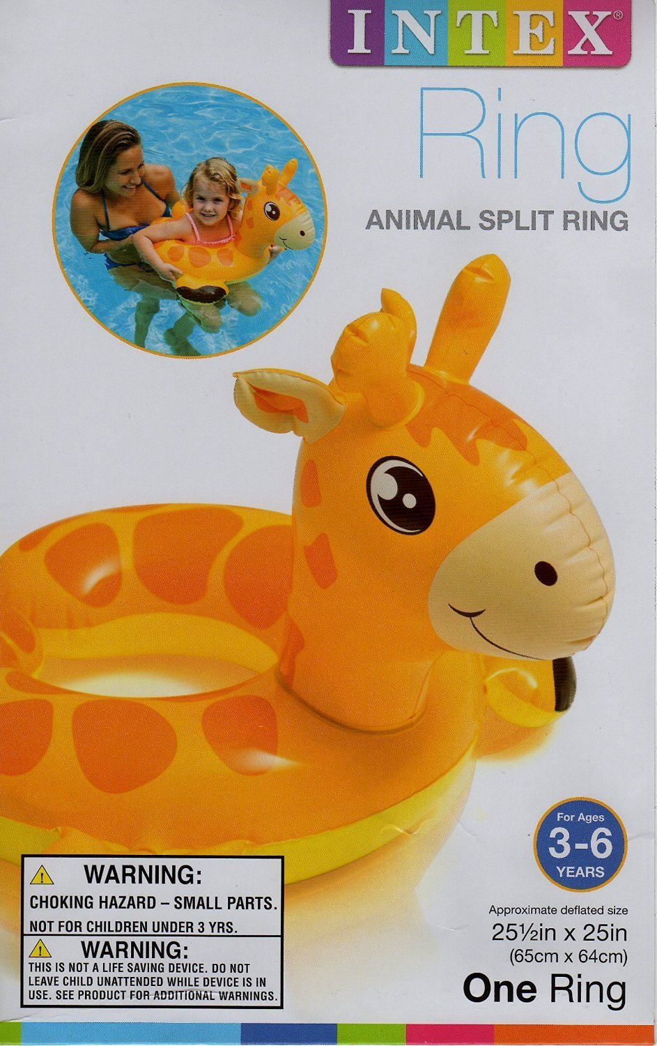 Amazon.com: Intex Animal Split Ring Pool Floats Set Bundle Includes Zebra, Frog Giraffe - 3 Pack (Assorted Designs): Toys & Games