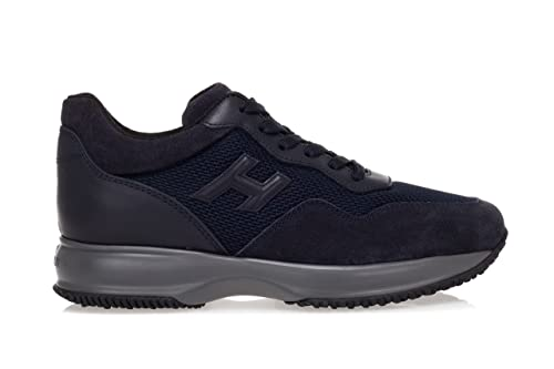 cb3918ed0be Hogan Men's Shoes 'Interactive' Suede Sneakers with High-Tech Fabric  Inserts-39