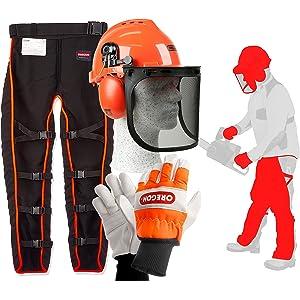 Mono de trabajo profesional KWF, pantalones con protección y ...