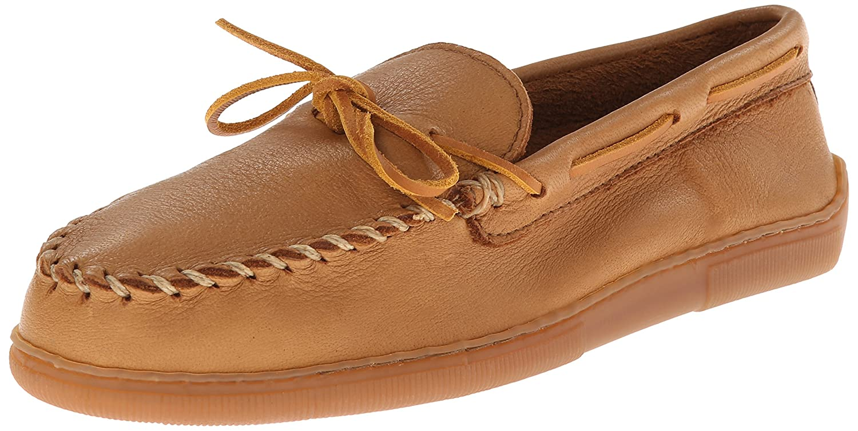 Minnetonka 890X Moosehide Classic, Mocasines para Hombre, Beige (Natural), 47 EU: Amazon.es: Zapatos y complementos