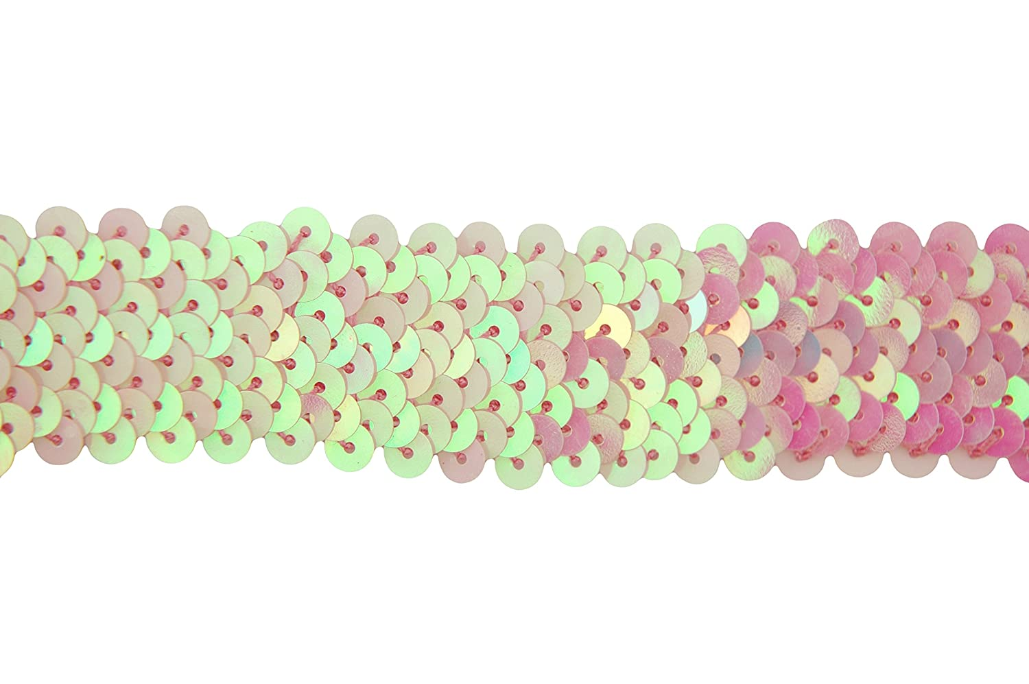 Threadart Stretch Sequin Trim Roll Available in 18 colors 1 wide 11yd length Light Blue 2 widths