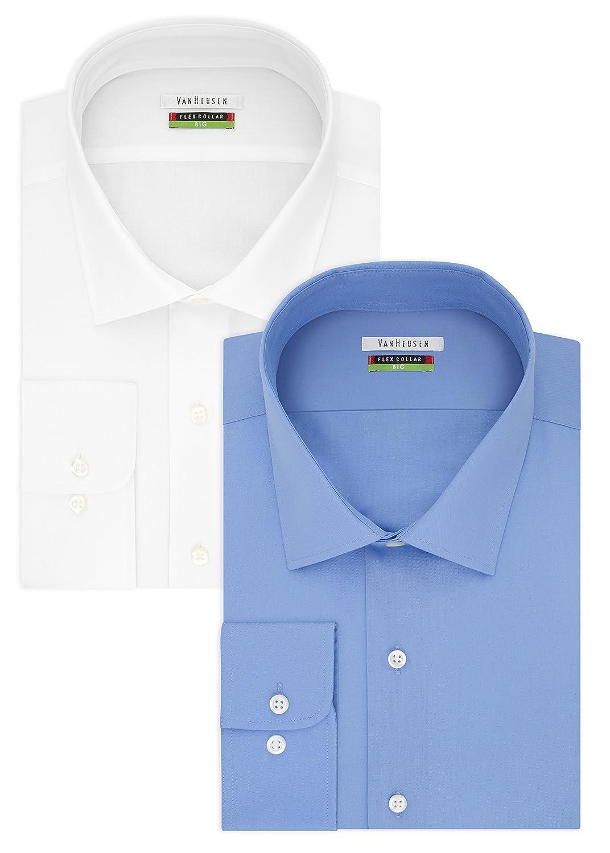 dc8119947 Van Heusen Men s BIG FIT Dress Shirts Flex Collar Solid (Big and ...