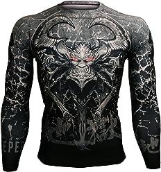 31f12a37f713 Btoperform Compression Rash Guard Full Graphic Base Layer Shirts Gatekeeper  of Hell [FX-101